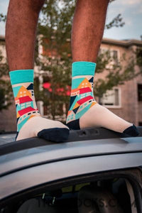 Colorful Houses Socks - Themsocks