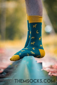 Deer Patterned Socks - Themsocks