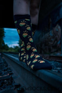 Lime Patterned Socks - Themsocks