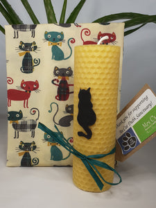 Beeswax Wrap and Candle Gift Set - in aid of An Cat Dubh