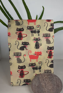 Beeswax food wrap - Pink Cats - in aid of An Cat Dubh