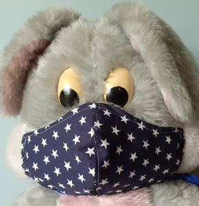 Reusable Face Mask - Dark blue with stars
