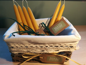 Hand-dipped natural beeswax candles