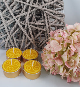 Pure Beeswax Tealights with Celtic design