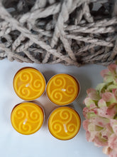 Load image into Gallery viewer, Pure Beeswax Tealights with Celtic design