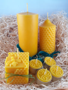 Large Beeswax Candle Gift Set