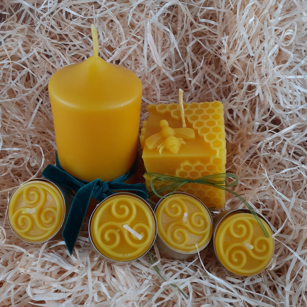 Beeswax Candle Gift Set - Small
