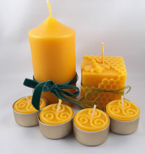 Load image into Gallery viewer, Beeswax Candle Gift Set - Small