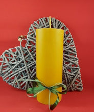Load image into Gallery viewer, Large pure beeswax pillar candle