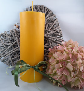 Large pure beeswax pillar candle