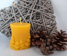 Load image into Gallery viewer, Tree Pillar Candle Winter Wonderland