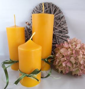Trio of hand-poured pillar candles