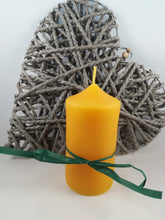 Load image into Gallery viewer, Hand-poured natural beeswax pillar candle