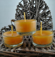 Load image into Gallery viewer, Glass Tealight - natural beeswax