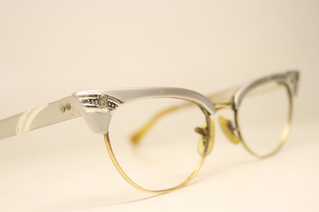 Small Vintage Cat Eye Glasses 1/10 12k Gold filled Whitney vintage Eyewear Retro Glasses Catseye glasses vintage frames