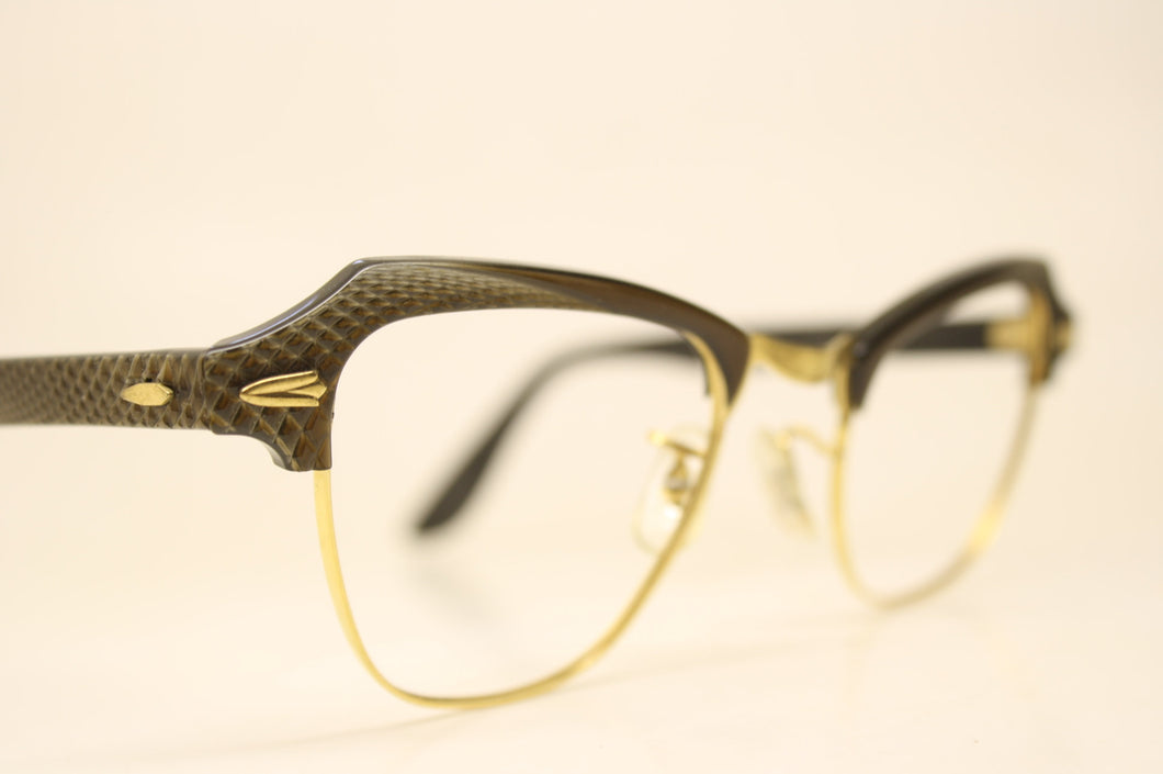 B&L Brown Cat Eye Glasses Vintage 1/10 12k Gold filled vintage Eyewear Retro Glasses Catseye glasses vintage frames