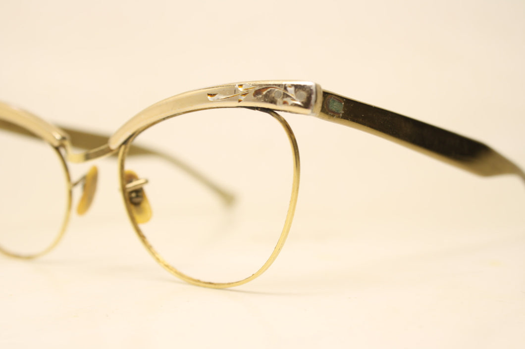 Brown B&L Cat Eye Glasses Vintage MC 1/10 12k Gold filled vintage Eyewear Retro Glasses Catseye glasses vintage frames