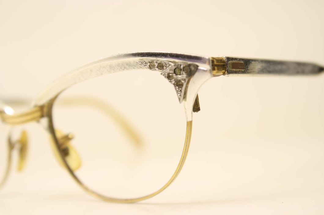 Rhinestone Cat Eye Glasses Vintage 1/10 12k Gold filled vintage Eyewear Retro Glasses Catseye glasses vintage frames