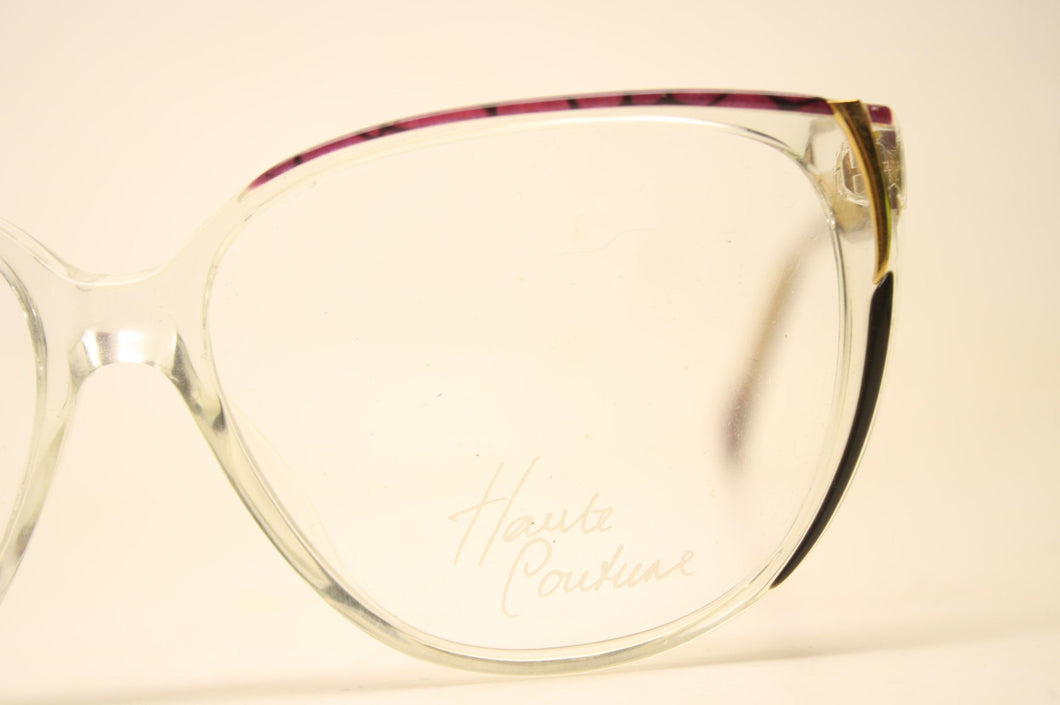 Unused Purple Colorful Clear Vintage Eyeglasses Haute Couture Retro New Old Stock Classic Eyeglasses NOS