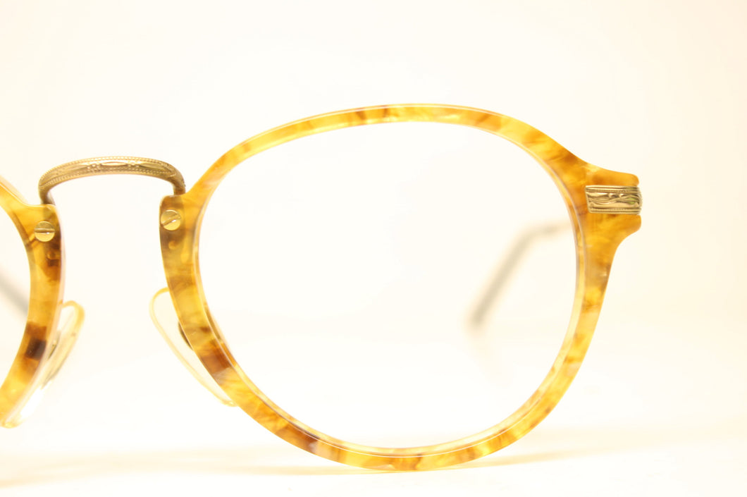 Unused Gold Bronze Colorful Vintage Eyeglasses Haute Couture Retro New Old Stock Classic Eyeglasses NOS