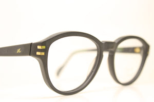 Unused Black Gold Vintage Eyeglasses Haute Couture Retro New Old Stock Classic Eyeglasses NOS