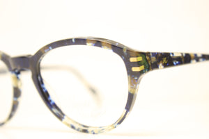 Unused Blue Gold Vintage Eyeglasses Haute Couture Retro New Old Stock Classic Eyeglasses NOS