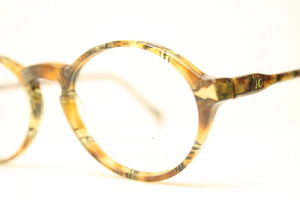 Unused Colorful Gold Oval Vintage Eyeglasses Haute Couture Retro New Old Stock Classic Eyeglasses NOS