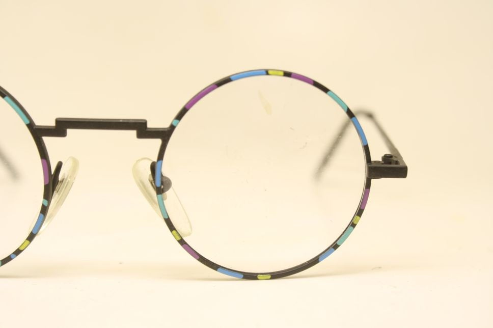 Beautiful Colorful Vintage Eye Glasses Retro Round 1980's vintage NOS