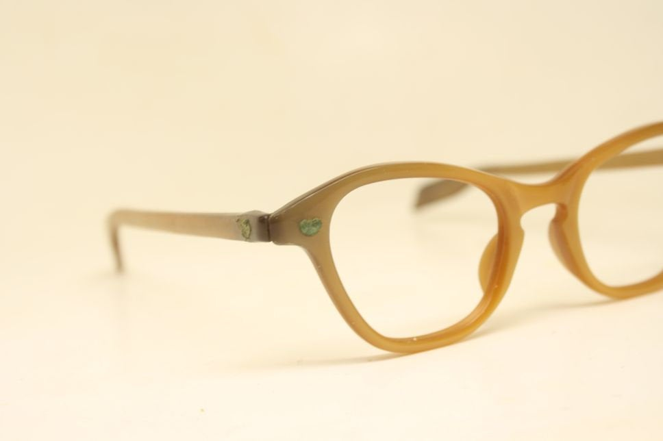 Cat Eye Frames vintage Eyewear Woodgrain Retro Eyeglasses