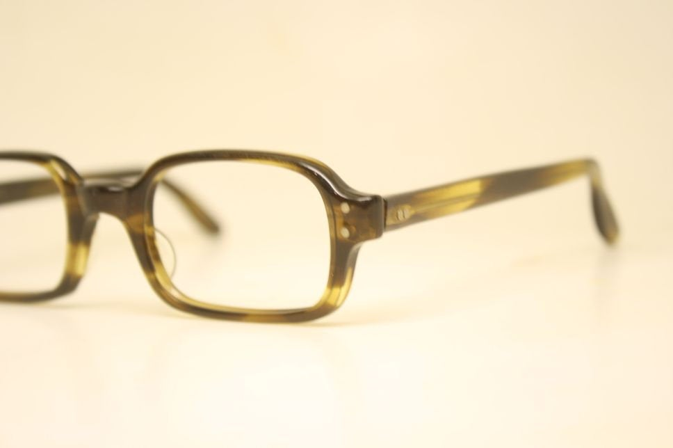 Tart Optical OTE Tortoise Vintage Eyeglasses Square 1960s Men Retro Glasses Frames Horn Rimmed Glasses Vintage Eyewear