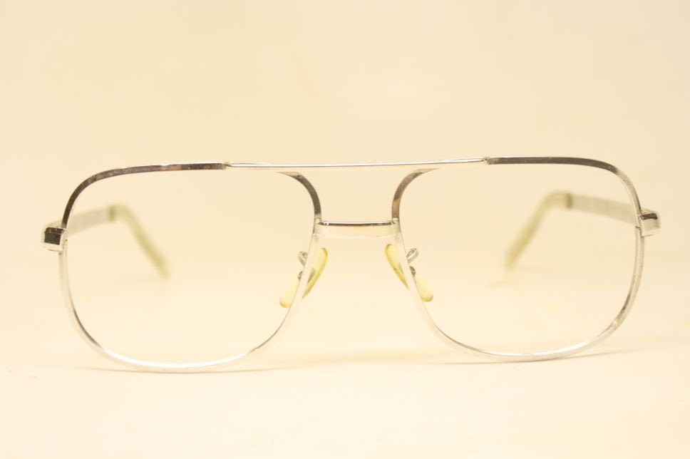 Vintage Eyeglasses American Optical Silver Aviator Old Stock 1980s Retro Eyeglass Frames