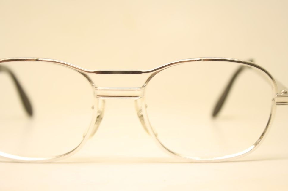 Vintage Eyeglasses Silver Aviator Old Stock 1980s Retro Eyeglass Frames
