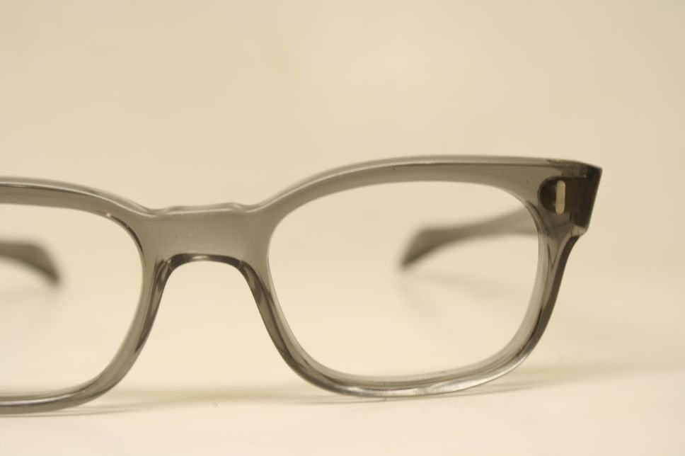 Unused Graysmoke Vintage Eyeglasses 1960s Men Retro Glasses Frames Horn Rimmed Glasses New Old Stock Vintage Eyewear