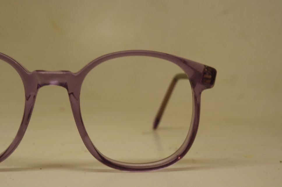 Vintage Eyeglasses Purple Pathway Optical Opticolors 1980s Retro Eyeglass Frames