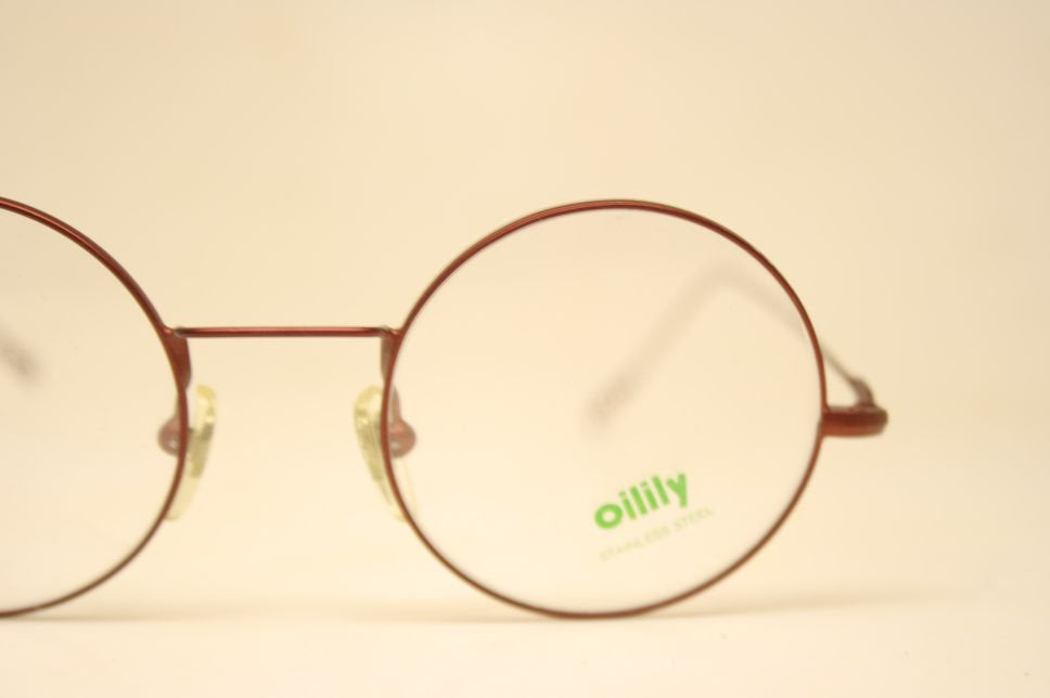 Perfectly Round Glasses Frames red Vintage Style Silver Eyeglass Frames glasses