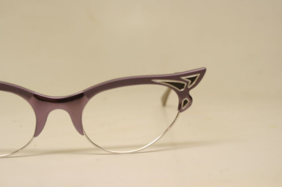 Small unused Purple Gold Cat Eye Glasses Vintage vintage Eyewear Retro Glasses Catseye glasses vintage frames