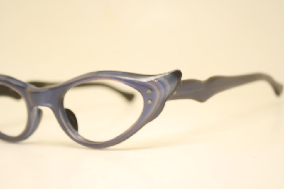 Small unused Blue Fade Cat Eye Glasses Vintage vintage Eyewear Retro Glasses Catseye glasses vintage frames