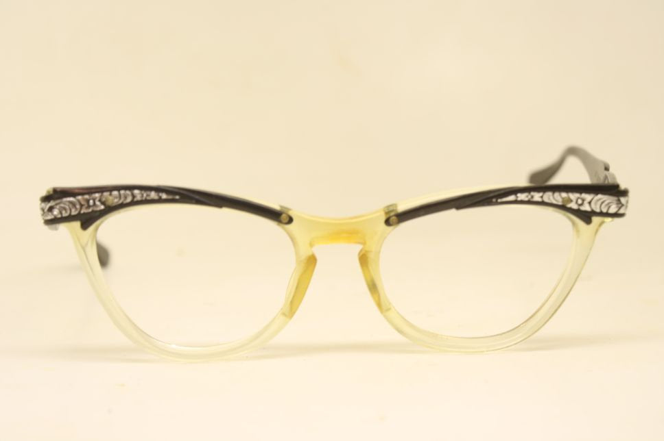 Art deco glasses Cat Eye Glasses Vintage Eyewear Retro art deco eyeglasses