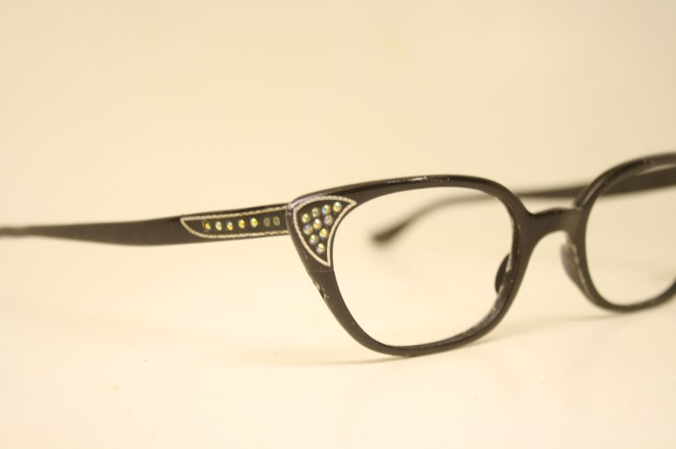 1950s glasses Aluminum Eyeglasses Vintage Eyewear Retro Glasses Cat Eye Frames
