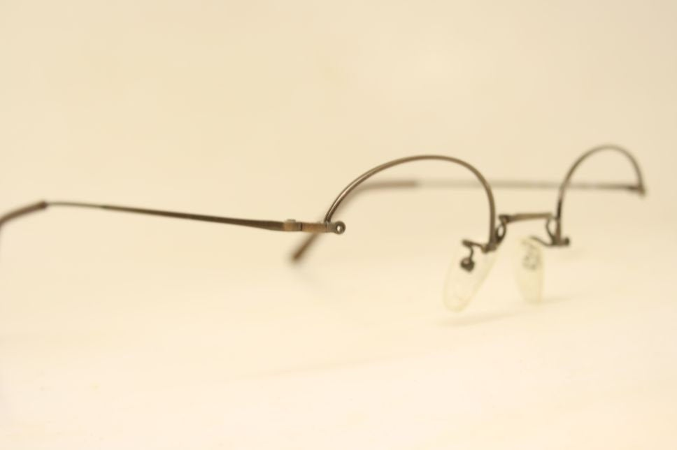 Semi Rimless Glasses Vintage Brown Artcraft Rimway Frames 1980's Retro Eyeglass