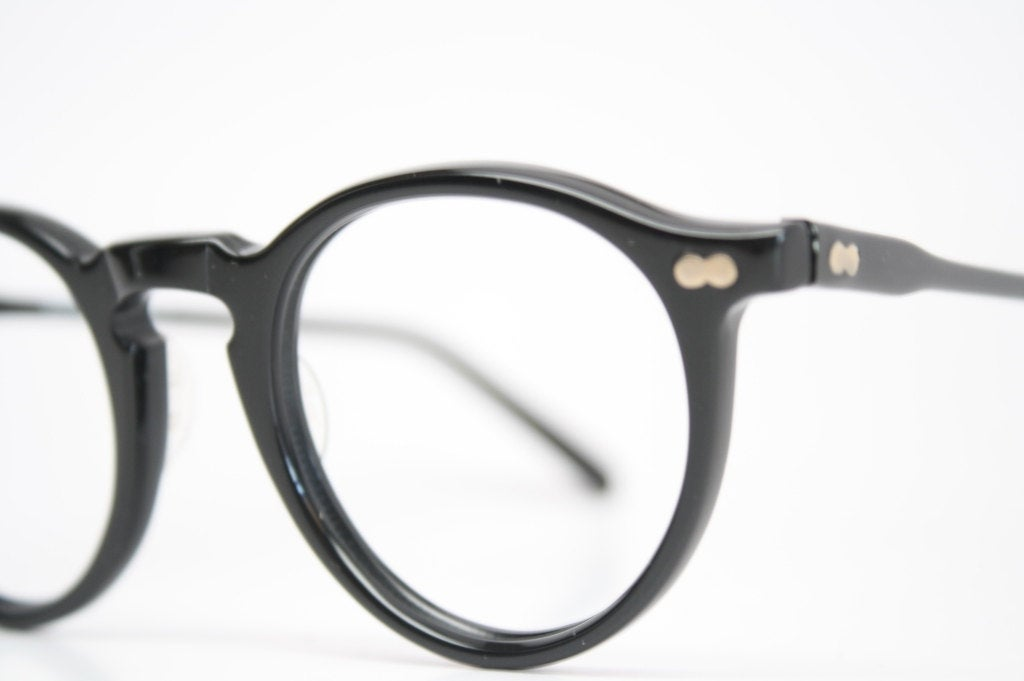 Vintage Eyeglass Frames Black Retro P3 shaped 1980's vintage eyewear NOS Deadstock