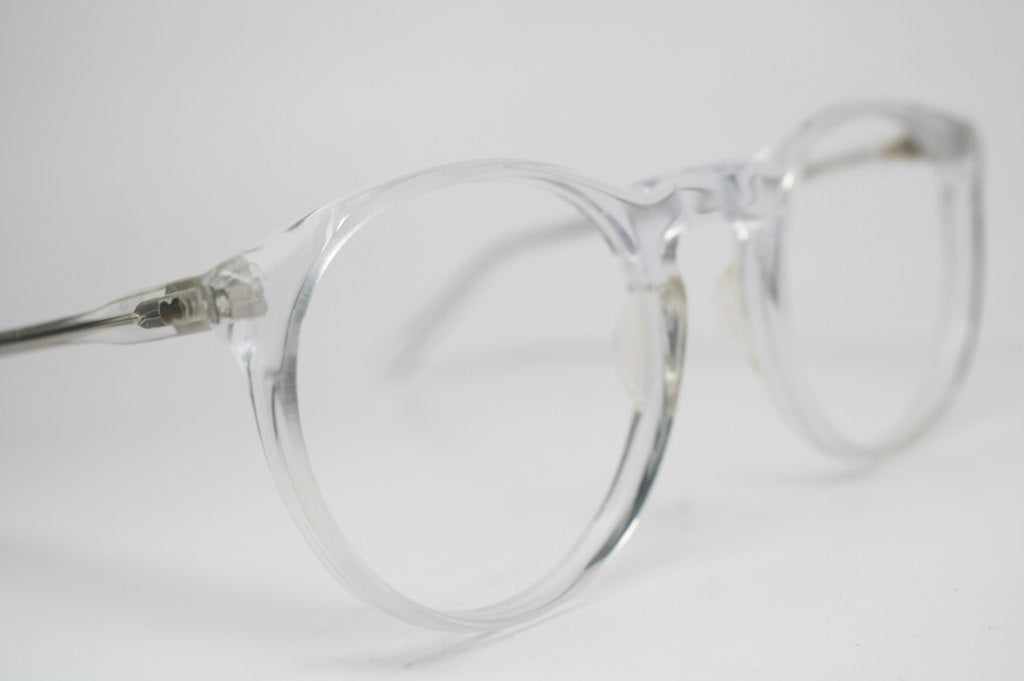 Vintage Eyeglass Frames Clear Retro P3 shaped 1980's vintage eyewear NOS Deadstock