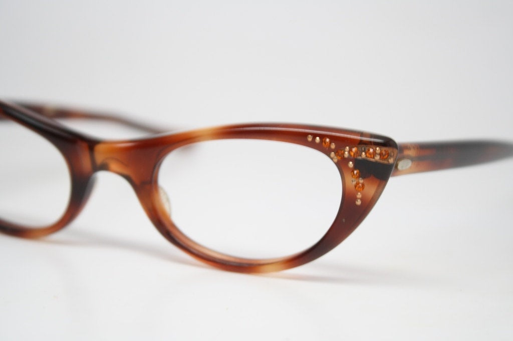 Small Tortoise Retro Glasses Vintage Eyeglass Frames 1960's Cateye Glasses vintage eyewear Vintage Eyeglasses