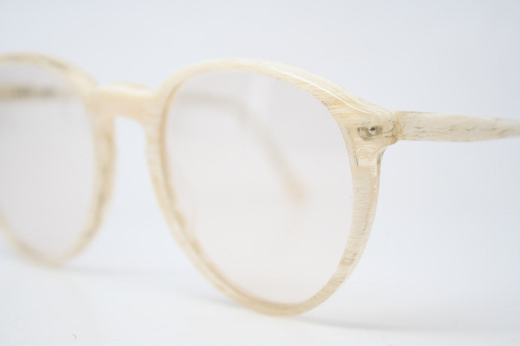 Antique Glasses Frames Woodgrain 1980's vintage eyewear NOS Deadstock Vintage Eyeglasses