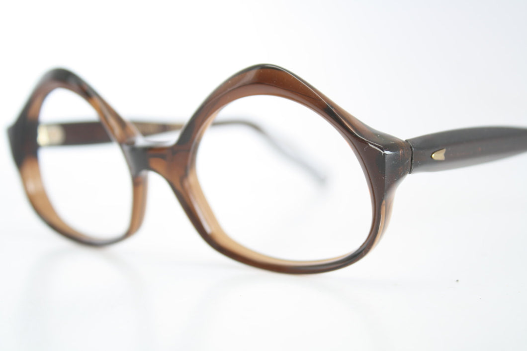 Vintage Eyeglasses Swank Tortoise Unused New Old Stock 1970s Retro Eyeglass Frames