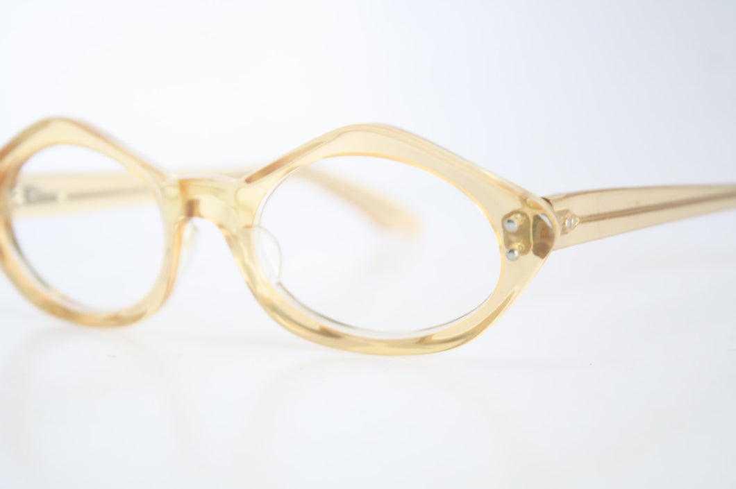 Vintage Eyeglasses Swan Yellow Unused New Old Stock 1970s Retro Eyeglass Frames