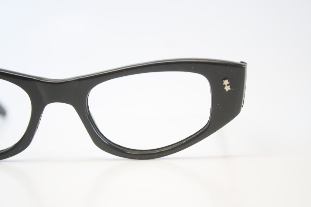 Vintage Black Cat Eye Glasses vintage Eyewear Retro Glasses