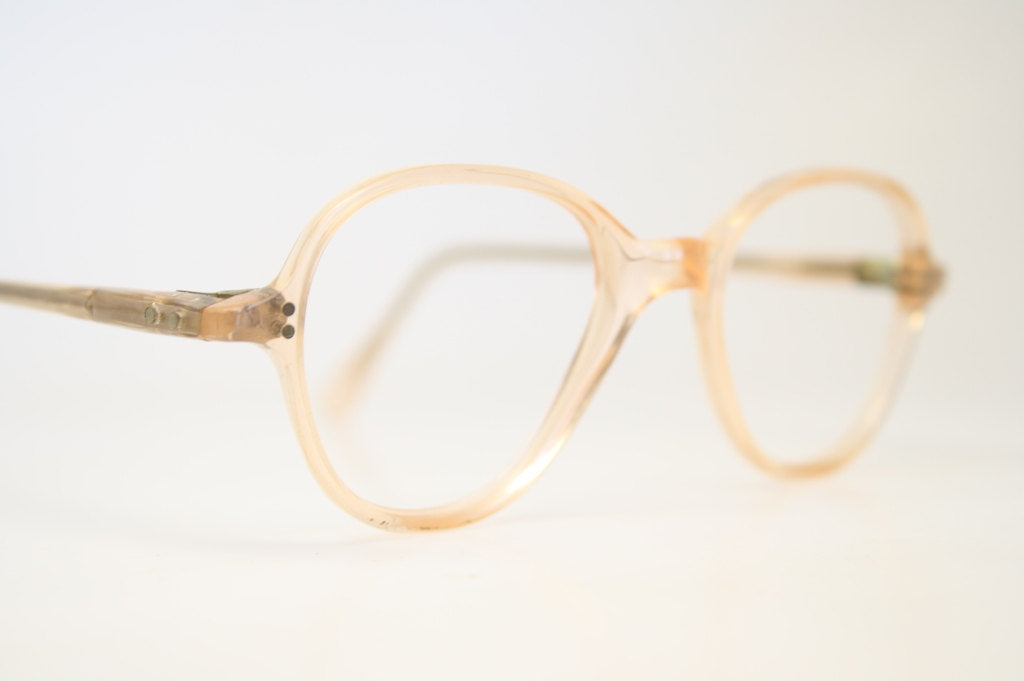 Antique P3 Pink / Flesh Eye Glasses Retro Lloyd Vintage Frames