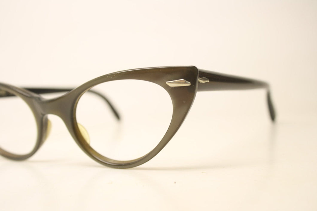 Brown Cat Eye glasses Unique vintage Eyewear Retro Glasses Catseye glasses vintage frames