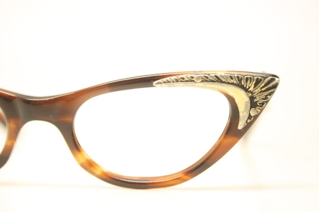 Small Tortoise Cat Eye Eyeglasses Vintage Eyewear Retro Glasses Cat Eye Frames